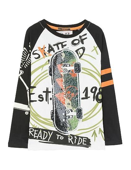 1d29ad2281c16 Desigual TS Sebastian T-Shirt À Manches Longues