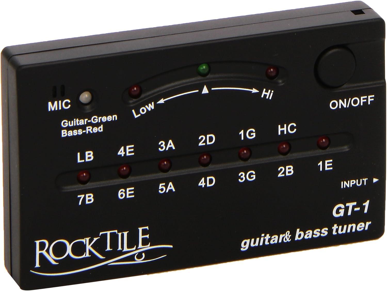 Rocktile GT-1 - Afinador para guitarra/bajo (Importado de Alemania)