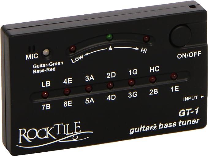 Rocktile GT-1 - Afinador para guitarra/bajo (Importado de Alemania ...