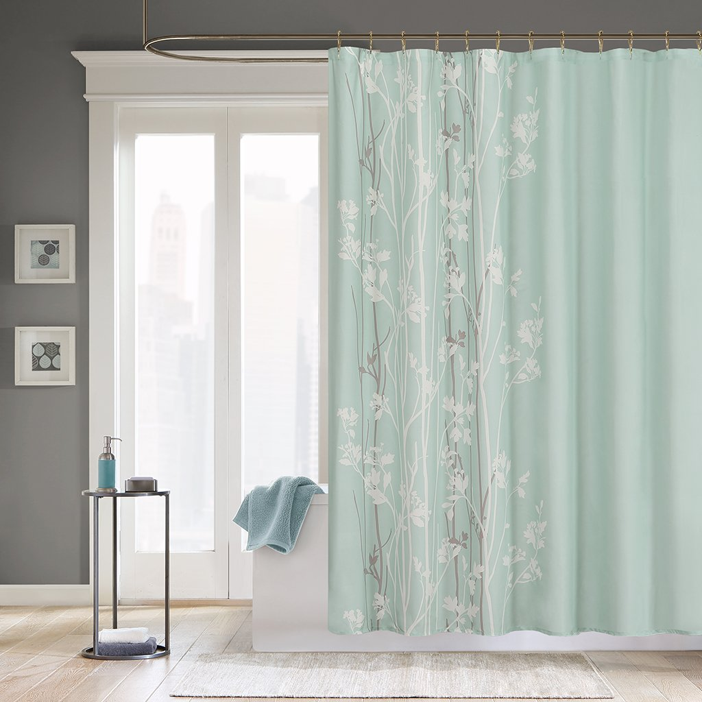 Amazon.com: Madison Park Athena Polyester Shower Curtain: Home ...
