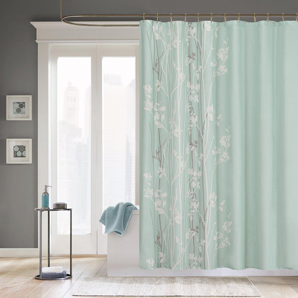 Amazon Madison Park Athena Design Flora Modern Shower Curtain Contemporary Curtains For Bathroom 72 X Surf Spray Home Kitchen