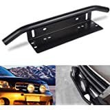Led Light Bar Mounting Bracket Driverwish Front License Plate Frame Bracket License Plate Mounting Bracket Holder for Off-Roa