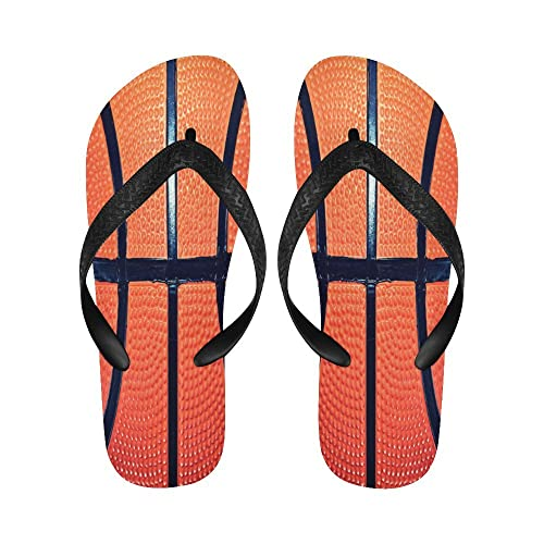 91f26f4be8cb98 Image Unavailable. Image not available for. Color  INTERESTPRINT Flip Flop  Slippers Printed Basketball Orange ...