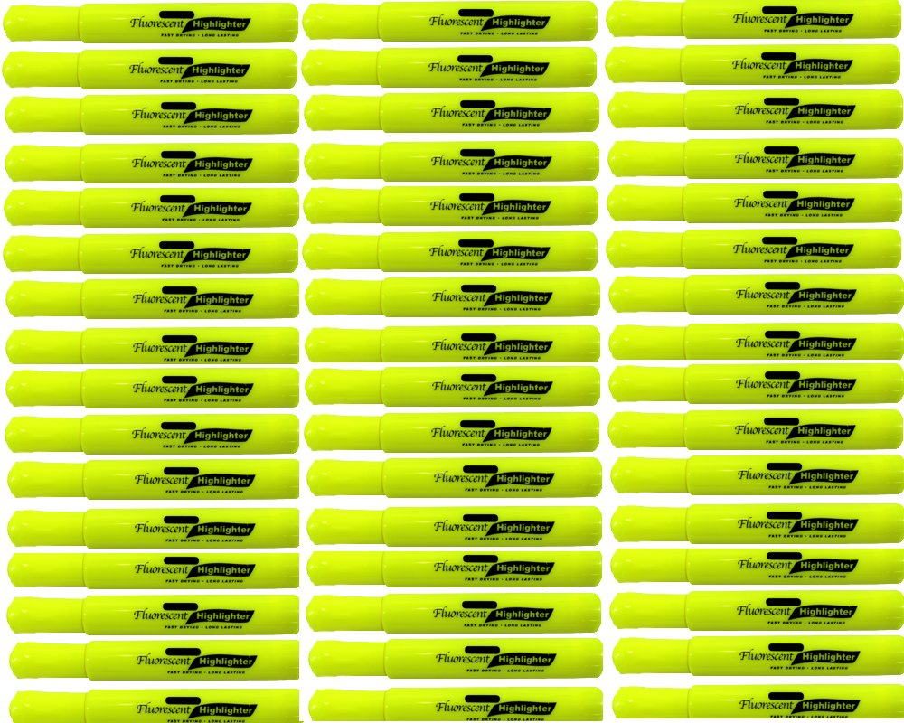 PowerTRC Bright Fluorescent Yellow Highlighter with Chisel Tip (48-Count)