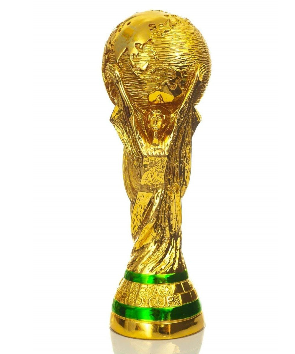 4b2bc2c3f9a Amazon.com : 2018 FIFA World Cup - World Cup Trophy Replica(10.5 Inch),  Trophy Keychain, Face Stickers Label, Silicone Bracelets : Sports & Outdoors