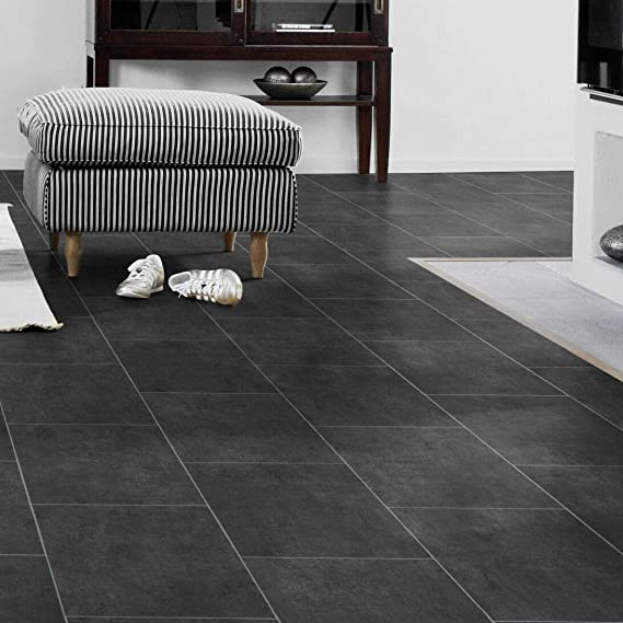 PVC Bodenbelag Fliese Melbourne Light Brown 9,50 /€ p. m/² Breite: 200 cm x L/änge: 250 cm