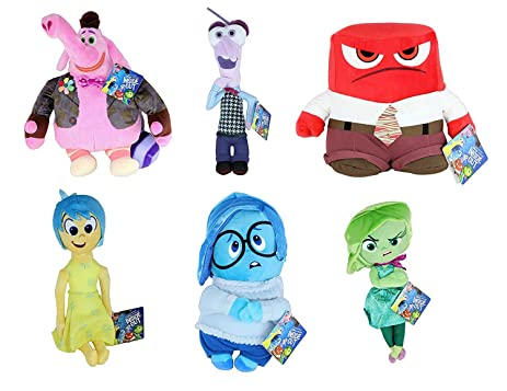 "Disney Pixar Inside Out Deluxe 10"" Inch 25cm Plush Set of 6 Includes: Joy"