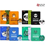 SNP Cosmetic Animal Character Printed Mask 10 each Box Case 4 Type
