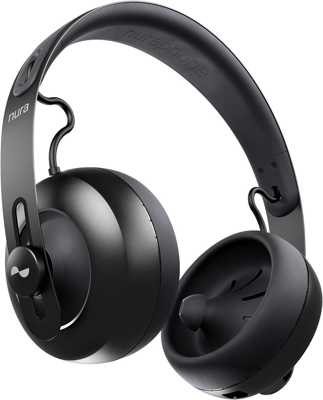 nuraphone - Auriculares de diadema inalámbricos Bluetooth con audífonos intraaurales, sonido personalizado, cancelación activa de ruido (ANC), modo social, botones multipulsación: Amazon.es: Electrónica