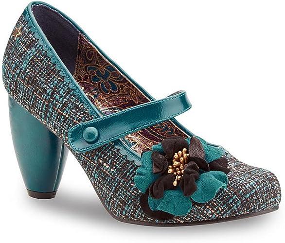 Turquoise Rosalind Mary Jane Shoes UK