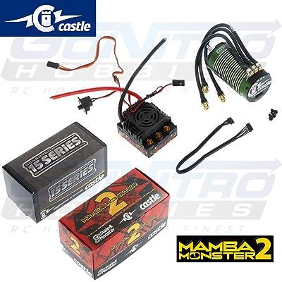 Castle Creations Monster 2 1:8Th 25V Esc Waterproof with 2200Kv Sensored Motor: Toys & Games
