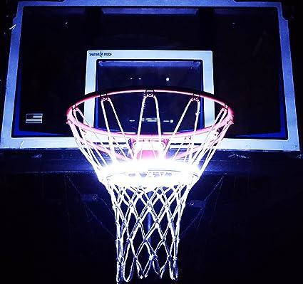 Amazon light up action basketball net basketball goal lighting light up action basketball net basketball goal lighting system multi colored wireless remote aloadofball Images