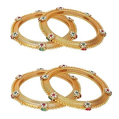 rechercher le dernier plusieurs couleurs vente usa en ligne Efulgenz Indian Bangles Bollywood Traditional Ethnic 18 K Gold Plated Faux  Rhinestone Bangle Bracelets Bridal Wedding Jewelry for Women