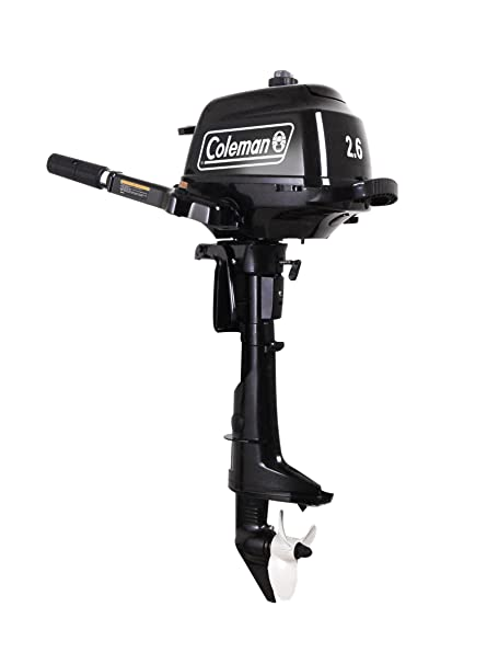 Coleman Powersports 2 6 hp Outboard Motor with Short Shaft, Black