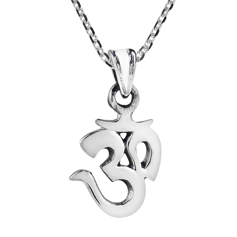 Small Aum//Om Prayer Sign//Symbol .925 Silver Pendant