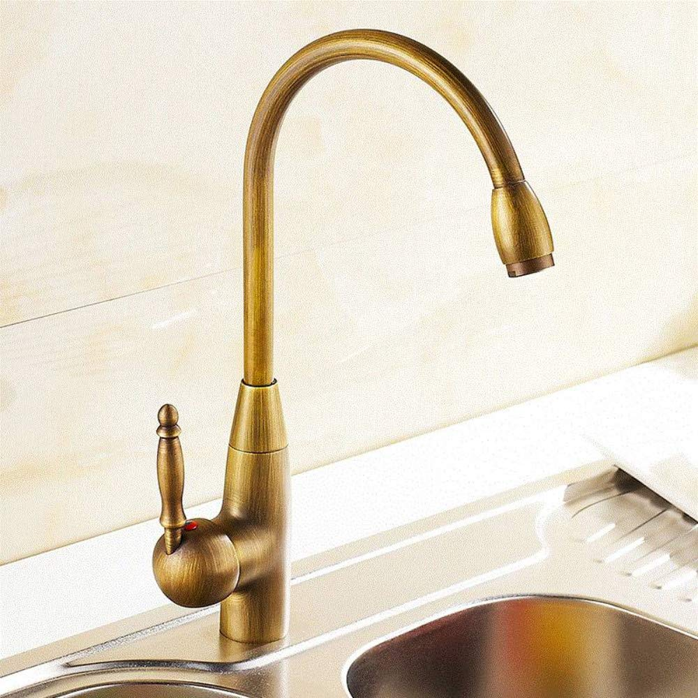 Kitchen Faucet Nostalgia Retro Kitchen Hose Antique Brass ...
