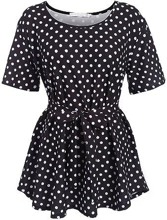 98941a712fb Naggoo Clearance Womens Plus Size Shirt Printed Blouse L-5XL Tunic ...