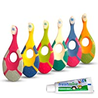 Ecovona - Baby Toothbrush for Infants & Toddlers 0-2 Years Old (6 Pack) | Bonus...