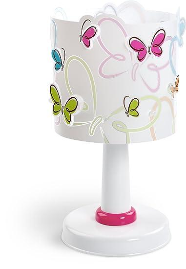 Dalber Butterfly Tischlampe Kinder Kunststoff mehrfarbig