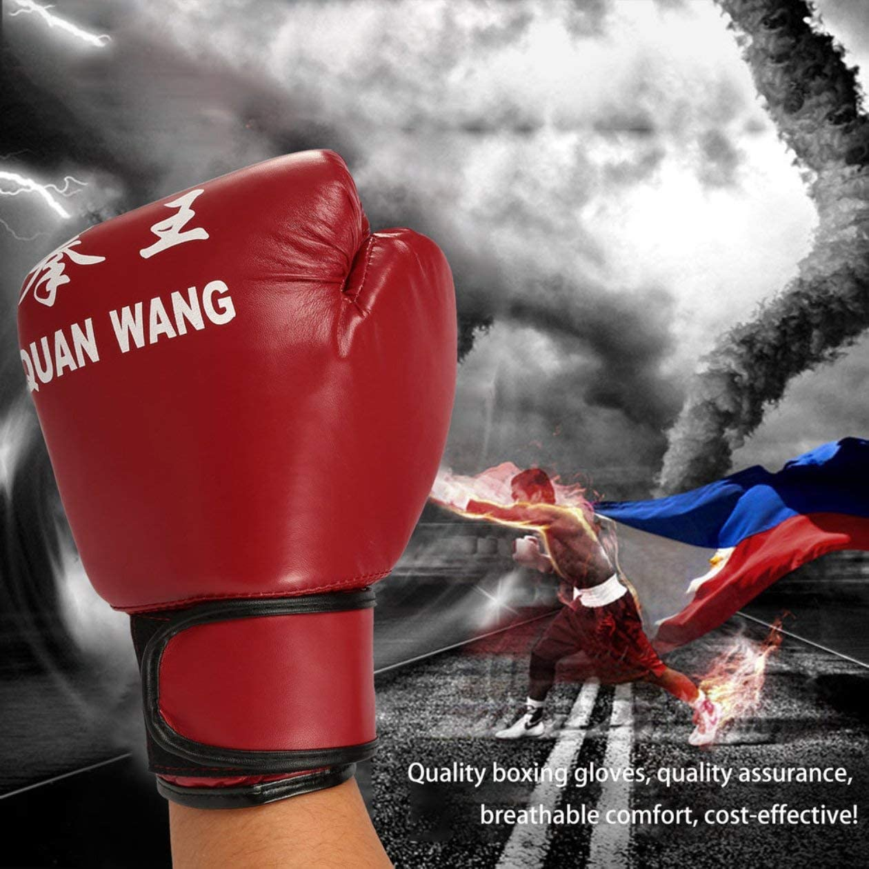 BIYI Red /& Black Adult Boxhandschuhe Professional Sandsack Liner Handschuhe Kickboxhandschuhe Faustkampf M/änner Frauen Training Fighting Tool Schwarz