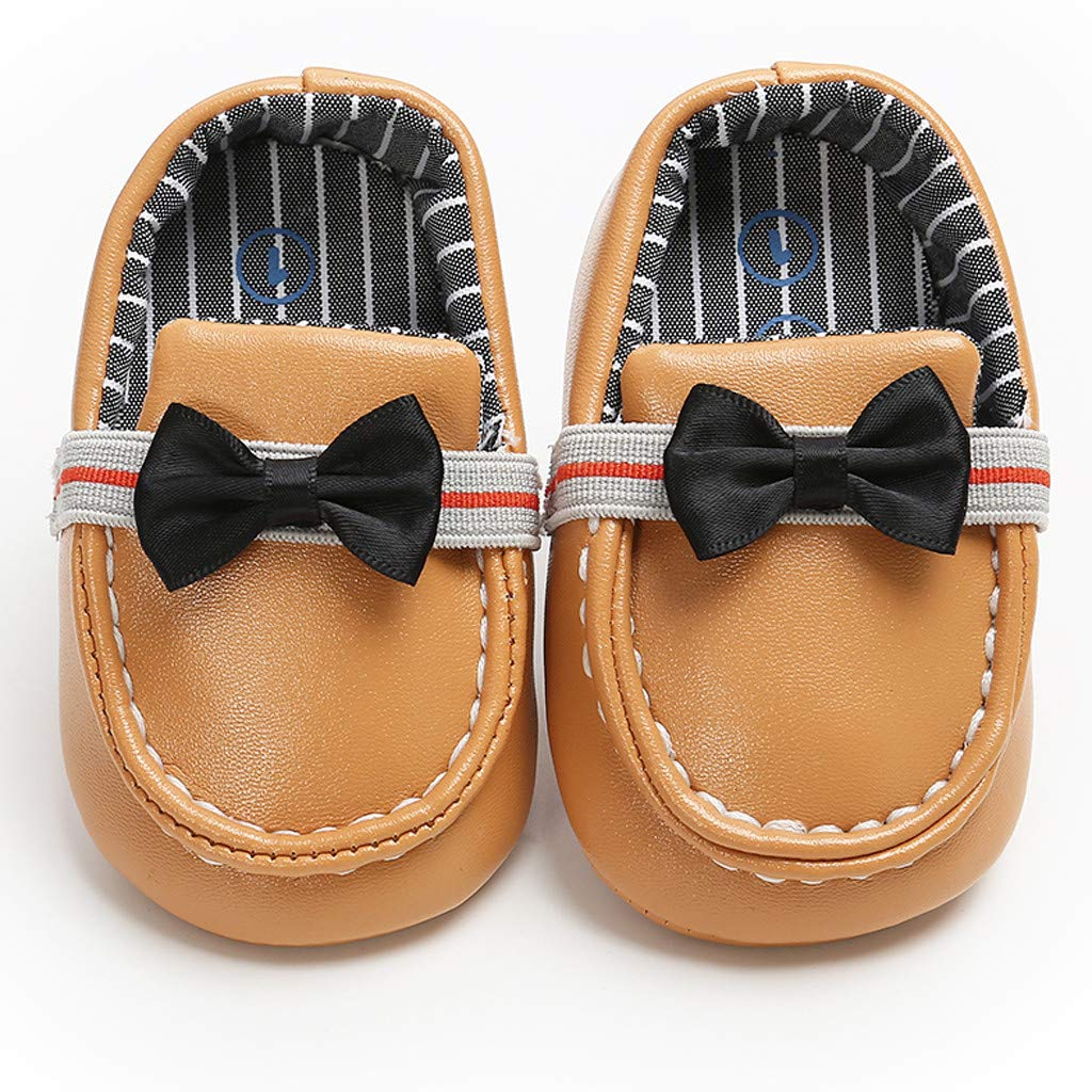 Tronet Baby Stripe Bowknot Leather Fashion Toddler First Walkers Kid Shoes Princess Dress Shoes