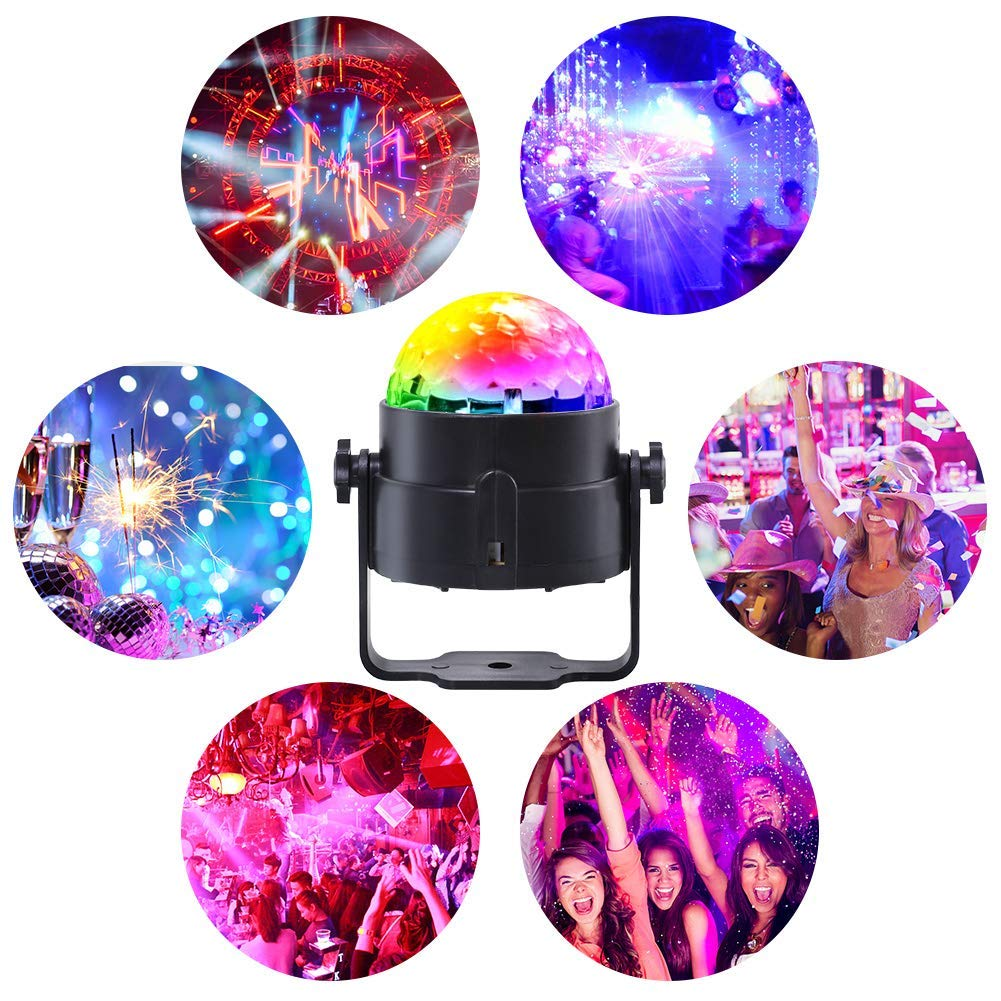 Disco Ball Party Lights -Led Party Lights with Remote Control DJ Lighting,Mini Strobe Lights Karaoke Decoration 7 Colors Gifts for Kids Birthday Indoor Gatherings Christmas