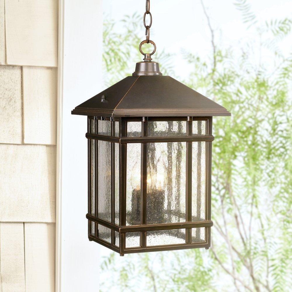 J du J Sierra Craftsman 16 12 High Outdoor Hanging Light