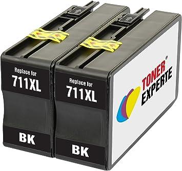 TONER EXPERTE® 2 XL Negros Cartuchos de Tinta compatibles con HP 711 711XL CZ129A para Impresoras HP DesignJet T520 T120 | Alta Capacidad: Amazon.es: Electrónica