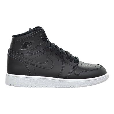 2b948157a6dbd Jordan Air 1 Retro High OG BG Big Kid's Shoes Black/White 575441-006 (6 M  US)