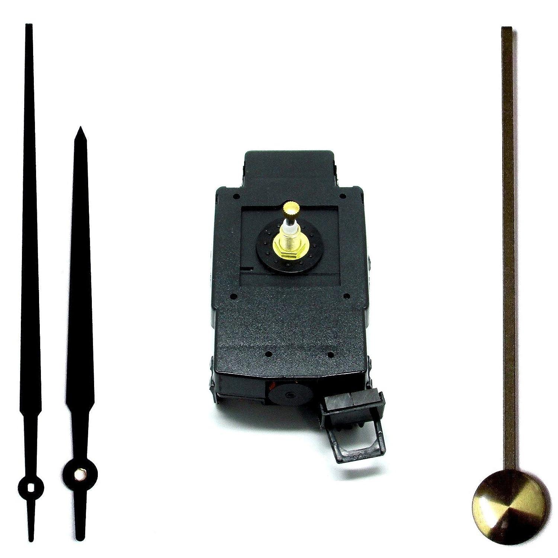 Nuovo kit completo con meccanismo di movimento al quarzo coppia elevata, pendolo, 200mm Gothic Hands Nero Quartz