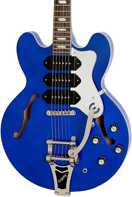 Edición limitada Epiphone Riviera Custom P93 azul Royale – Guitarra eléctrica Chicago Pearl