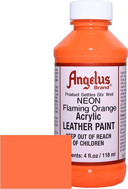 Angelus Neon Acrylic Leather Paint-4oz