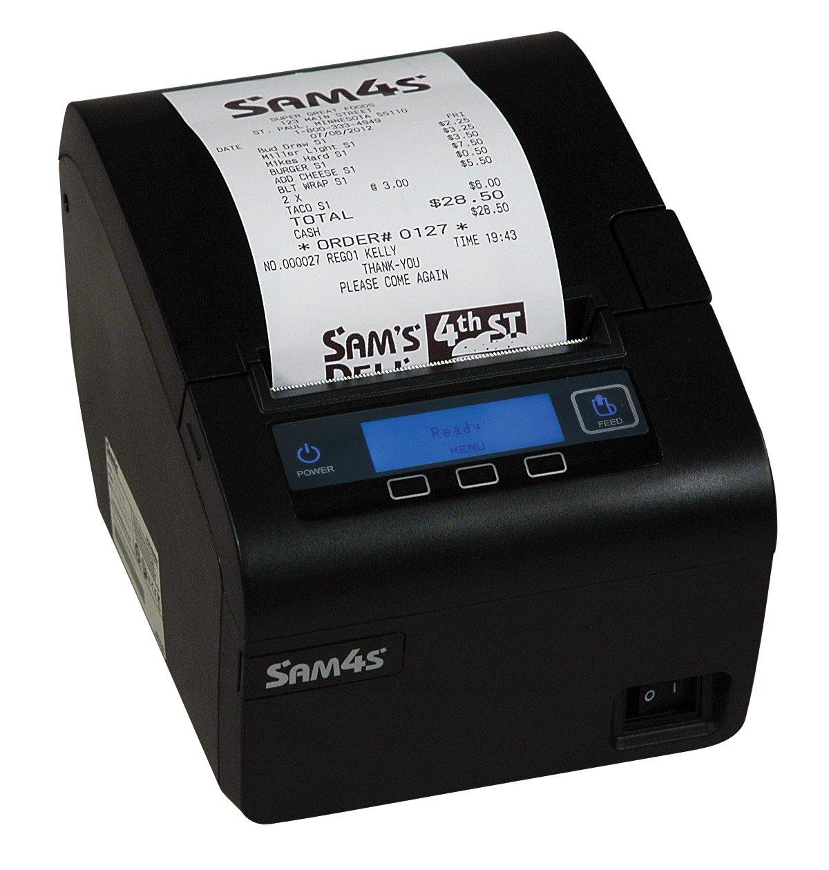 Sam4s Ellix 40 Black USB and Serial Thermal Receipt Printer