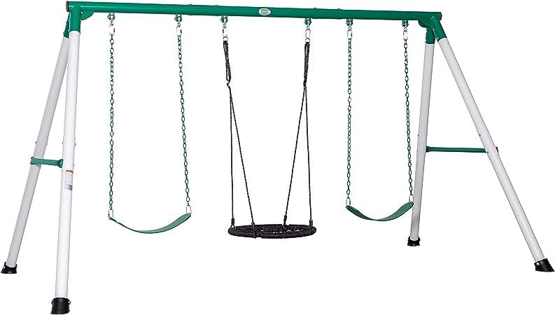 Backyard Discovery Little Brutus Heavy-Duty Metal A-Frame Swing Set