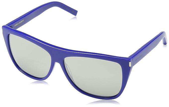 Saint Laurent SL 1 DTO Gafas de Sol, Gris (Blue), única ...