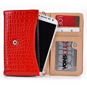 Exxist Classy Women's Wristlet Phone Accessory Wallet Purse Clutch Fits Samsung Galaxy K Zoom | Galaxy Grand 2