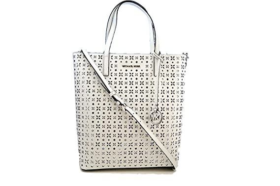a53662ff5df5 Image Unavailable. Image not available for. Color: MICHAEL MICHAEL KORS  Hayley Large Perforated-Leather Tote Bag
