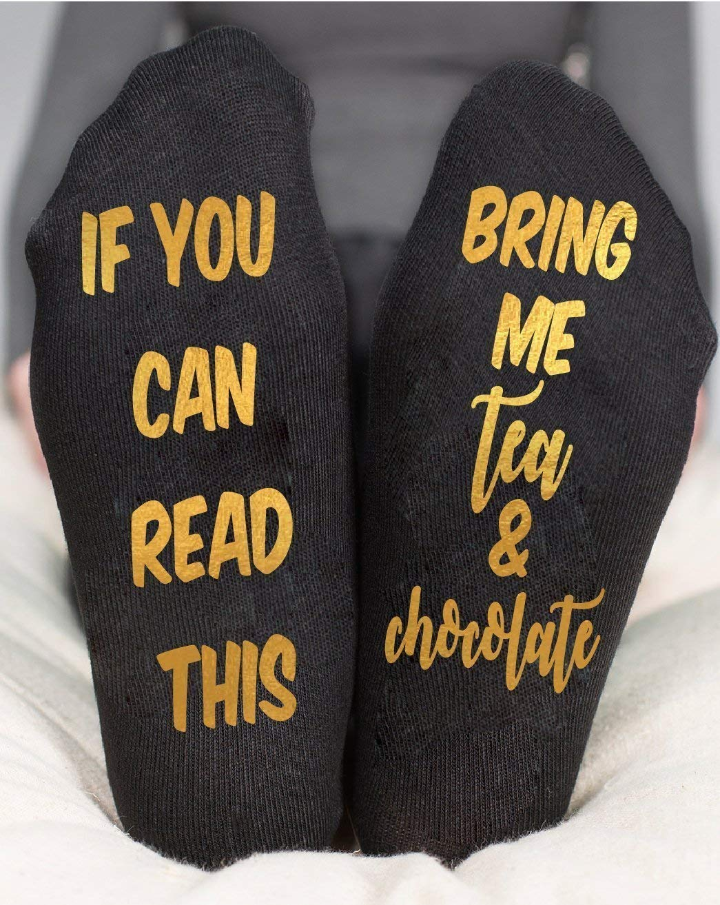 Tea Socks Bring Me Chocolate Grandma Mother Birthday Gifts
