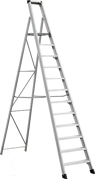 Industria de escalones de escalera 4,5 M Altura de trabajo de 12 niveles Elkop SHRP 812: Amazon.es: Bricolaje y herramientas