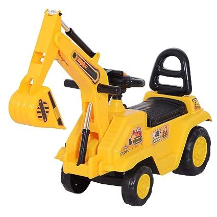 Amazon.com: HOMCOM 3 en 1 Ride On Toy Excavator Digger ...