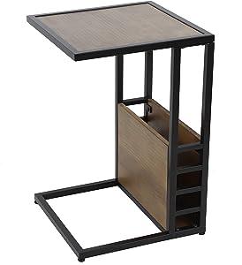 Decor Therapy Coco Book Box C-Table, Walnut