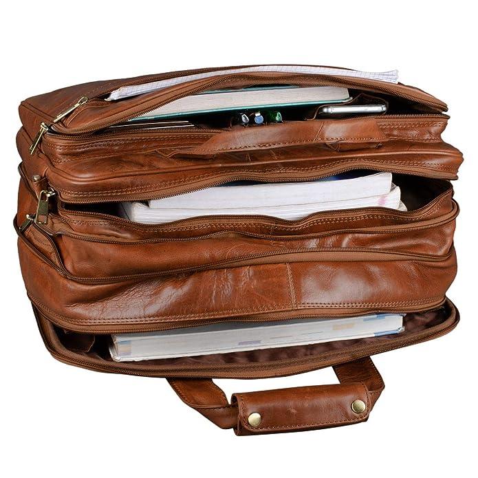 41a7e1cd3c STILORD 'Leopold' Grande borsa in pelle da Insegnante Professore  Portadocumenti a tracolla per Ufficio Lavoro A4 raccoglitori in cuoio Uomo  Donna, ...