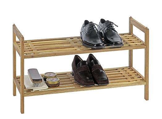 wenko norway walnut wood shoe shelf 69 x 405 x 27 cm