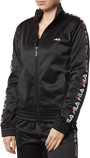 Femme TRACK FILA SWEAT WOMEN JKT S 681823 STRAP SHIRT BLACK bv7f6Ygy