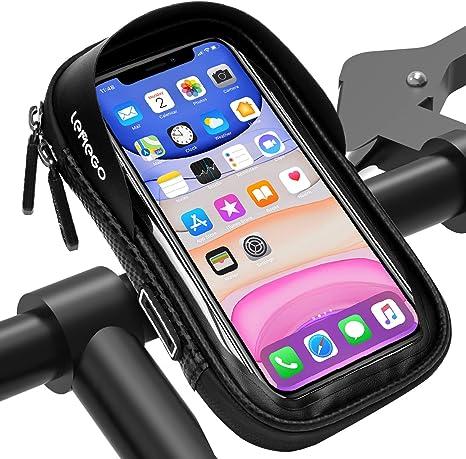 LEMEGO Bolsa Bicicleta Manillar para Ciclista Ciclismo, Bolso de Bici Impermeables Soporte Móvil Teléfono para Teléfonos Móviles Inferior de 6.5 Inches: Amazon.es: Deportes y aire libre