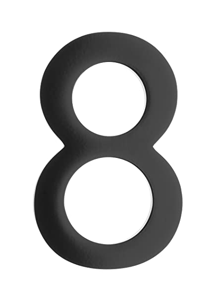 Architectural mailboxes 3585b 8 5 in brass floating house number 8 black
