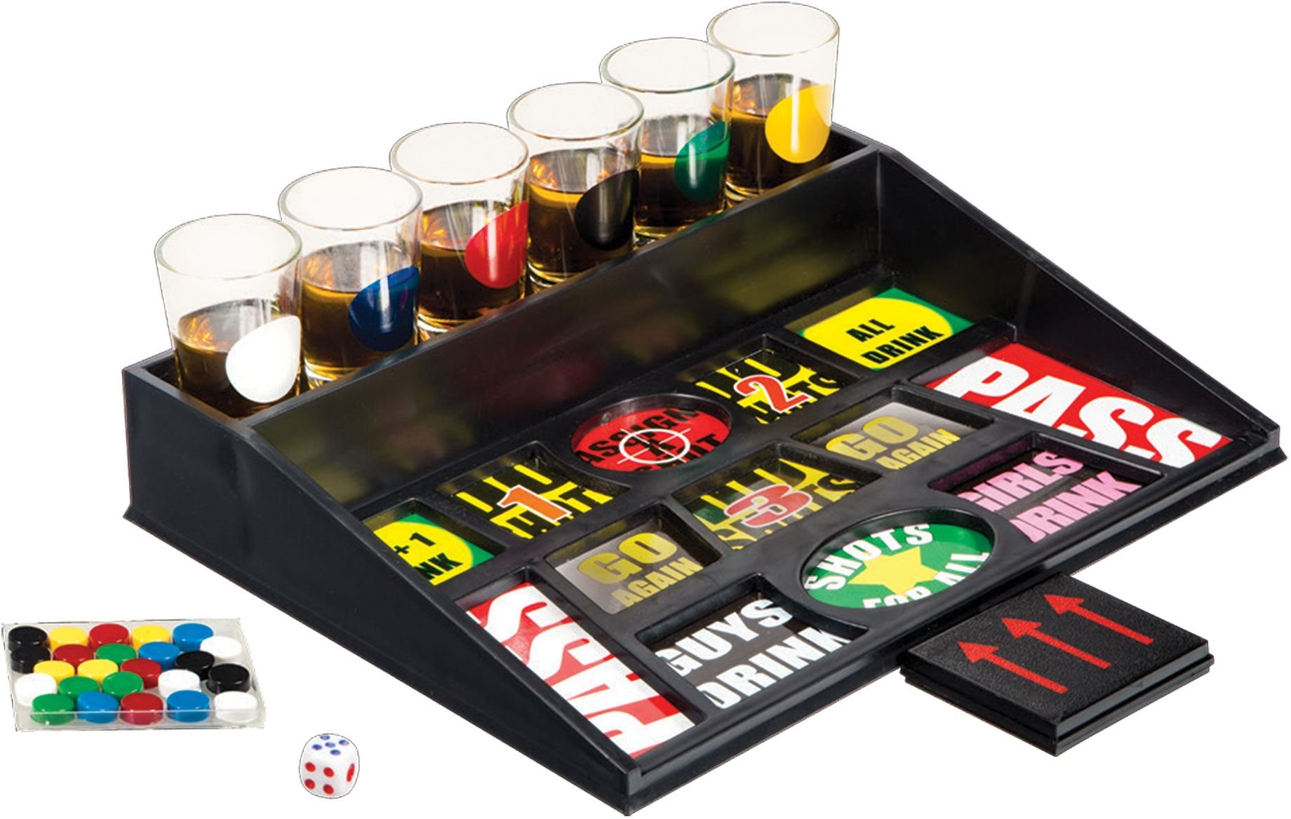 Drinking Game with Durable Shot Glasses- Party Drinking Alcohol Game- College Beer Liquor Game Set