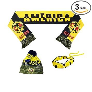 Amazon.com: Club America Aguilas México Fútbol Set Gorro ...