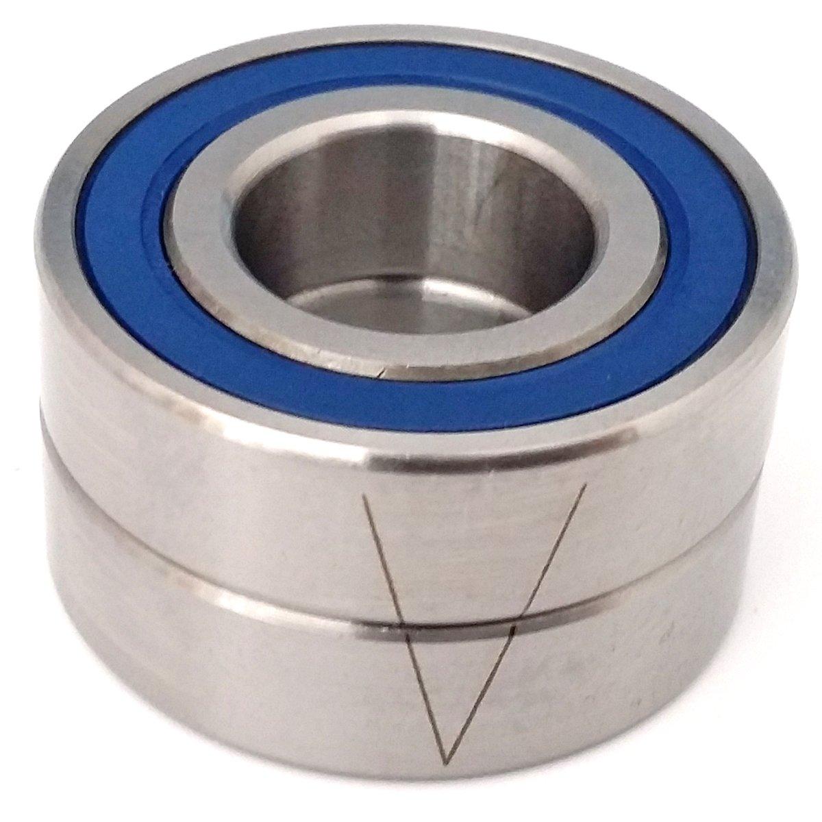 Ochoos 1pcs 7004 7004C 2RZ P4 20x42x12 Ochoos Sealed Angular Contact Bearings Speed Spindle Bearings CNC ABEC-7