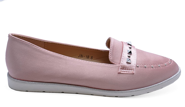 Damen Rosa Zum reinschlüpfen Stecker Slipper Smart Freizeit Flach Bequem Pumps Schuhe Größen 3-8 - Hellrosa, 40 HeelzSoHigh
